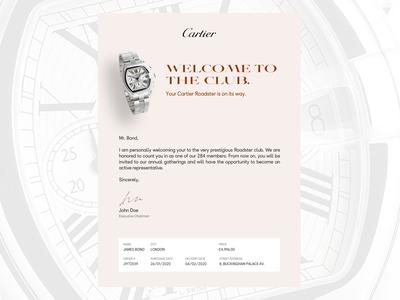 Daily UI 17 — Email Receipt dailyui 017 017 dailyui017 watches cartier watch email receipt email daily ui figma dailyui ux ui
