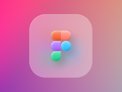 Big Sur Figma — Logo Redesign design transparent glassy glass colours colors gradient shadows gradients floating mac apple big sur logo figma