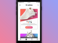 Adidas Mobile Shop Redesign