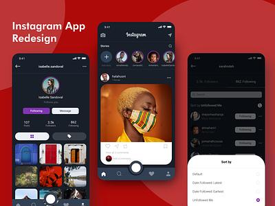 Instagram App Redesign app-design app repost redesign instagram design ux ui
