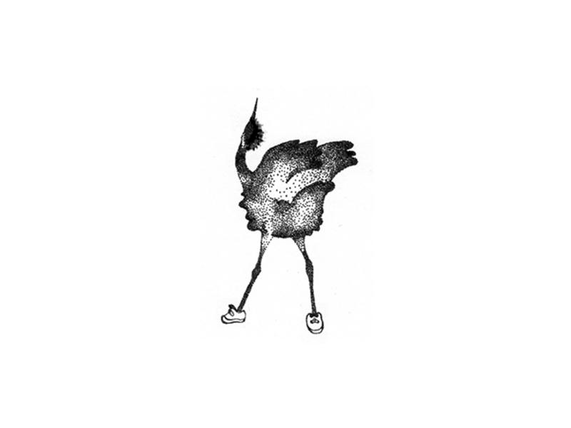 Kraanvogel. handmade vintage hipster logo animal sketch traditional illustration pointillize pointillism kraanvogel bird