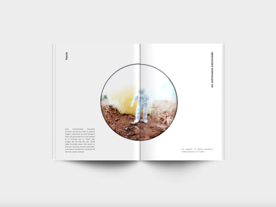 Stray astronaut text story storytelling space astronaut photobook fisheye editorial design book