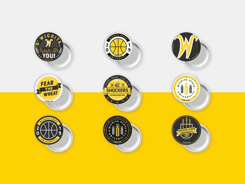 Wichita State Buttons print button design button