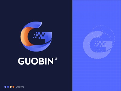 G logo technology logo gradients logo design