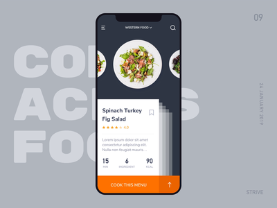 Come Across Food ux animation come across ui animation food app user interactive
