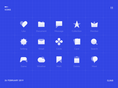 Cloud Icons meet up email location delete icons logo meet weather game card setting message document icon