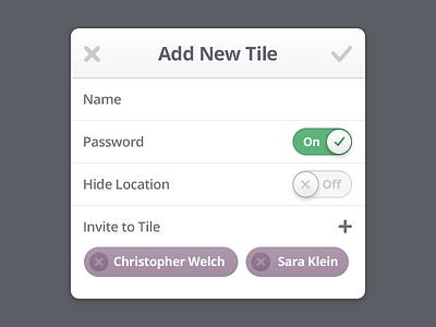 Add New Dialog dialog ios switch toggle window iphone location