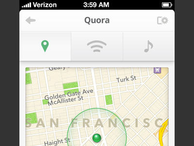 Where is Quora? geo map marker location pressed ios apple iphone