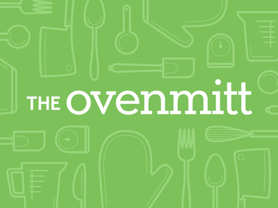 The Ovenmitt ovenmitt timer fork spoon cleaver measuring cup knife icons vector