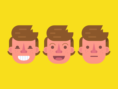 Tic Tac Toe illustration cartoon faces face happy excited disappointed