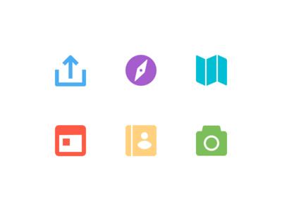 Citymaps Icons glyphs photo address book event map explore share icons