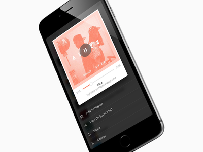 Playlisting ios action sheet preview song music list playlist
