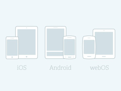 Various Devices ios android webos icons mobile