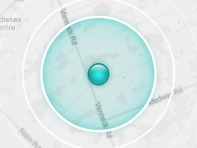 Looking Around You app ios proximity location maps users radius circles