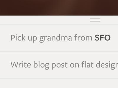Pick up grandma list ios freight sans