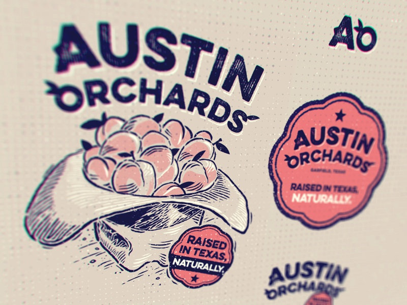 Austin Orchards  atx texas system brand badge cowboy hat orchards austin