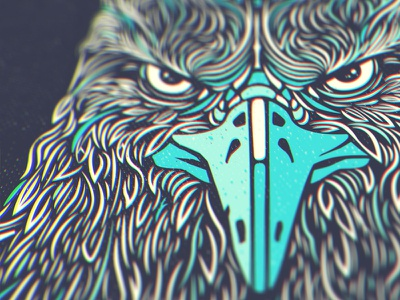 Eagle Head Illustration vape vaping illustrator determined angry detailed feathers bird vector eagle