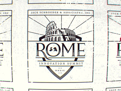 Rome Summit halftone illustration branding logo texture conference innovation roman colosseum rome