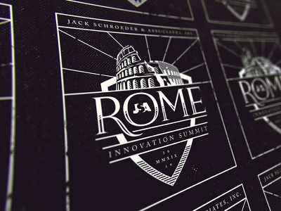 Rome Summit - Dark texture rome roman logo innovation illustration halftone conference colosseum branding
