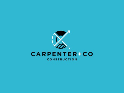Carpenter + Co builder carpentry illustrator construction graphic design branding logo