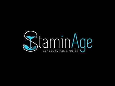 StaminAge slogan tagline longevity graphic design illustrator branding hourglass time stamina logo