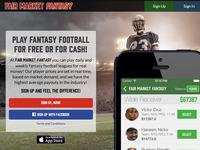Fair Market Fantasy Landing & iOS App