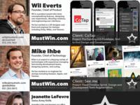 New MustWin.com Biz Cards