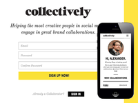 Collectively App HTML/CSS
