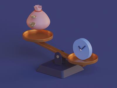 Balance Scale blender3d scale balance animated animation blender render lowpoly illustration modeling 3d illustration 3d