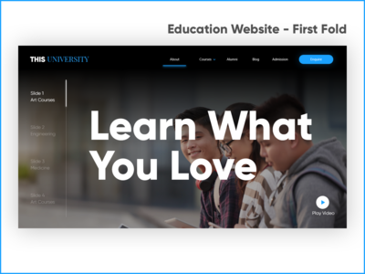Homepage Concept for a University Website