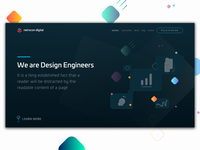 Homepage Concept for a Design Agency