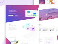 Mr. Debut Dribbble Shot: Agency Landing Page Design