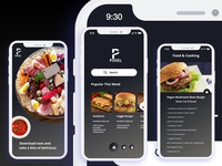 Restaurant iOS X App Design - Freebie XD File