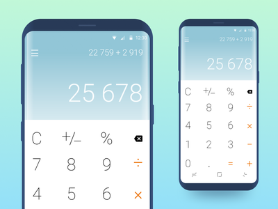 Daily Ui Challenge 04 - Calculator figma android s8 samsung app calculator music challenge ui dailyui