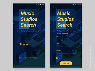 Daily UI Challenge #01 - Sign Up signup figma music ui dailyui challenge