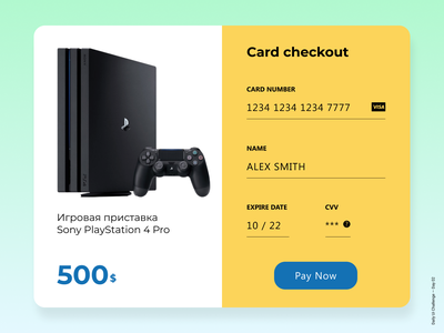 Daily Ui Challenge Day #002 - Credit Card Checkout credit card checkout pay popup challenge ui dailyui