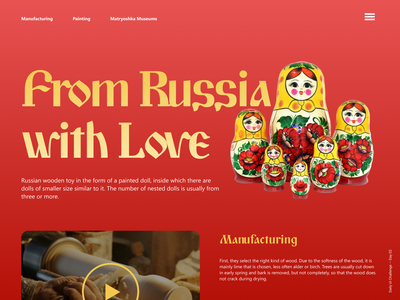 Daily Ui Challenge Day 03 - Landing Page russia matryoshka landing page figma challenge ui dailyui