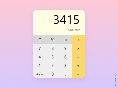 Daily Ui Challenge Day 04 - Calculator ux uxdesign clean concept design calculator figma app challenge ui dailyui