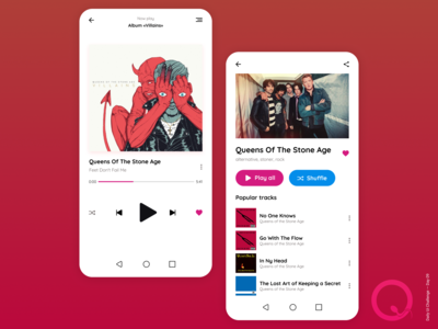 Daily UI Challenge Day 09 - Music Player