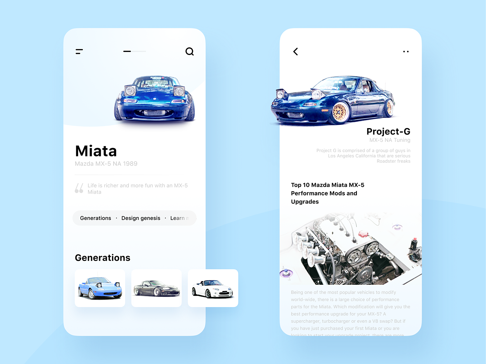 Miata Generations & Tuning Case by Geanya on Dribbble