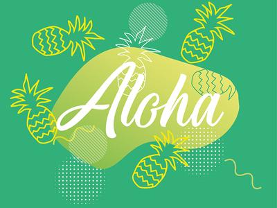 Aloha Hawaii greeting card.