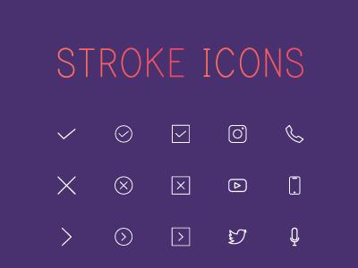 Free Stroke Icon Set