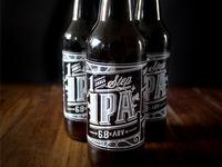 Homebrew Beer label in situ