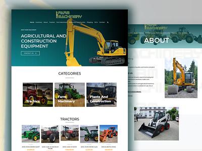 Woocommerce website design and development wordpress website website builder wordpress website design professional website corporate website design business website excavator tractor ecommerce woocommerce