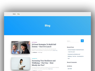 Inner blog feature design by WordPress elementor wordpress design blogging wordpress development theme design custom web design wordpress blog