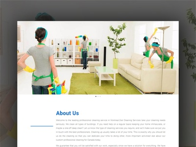 Cleaning service company's website by WordPress website design ui website builder professional servicing servicing cleaning servicing website cleaning company business website cleaning services wordpress website design