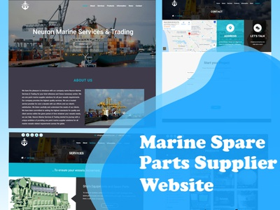 Spare parts supplier's website created by WordPress elementor corporate website design parts suppliers shipping company marine life marine industy spare parts suppliers marine spare parts