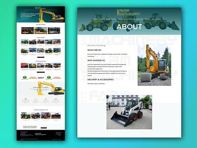 Business website for tractor excavator supplier company wordpress website woocommerce elementor ecommerce wordpress business website business website tracks loader excavator tractor