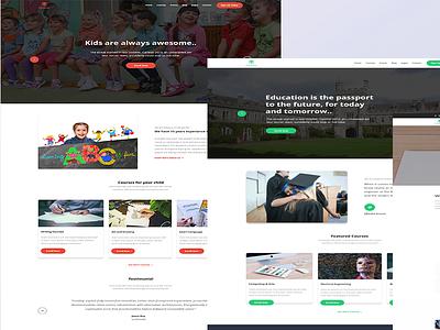 Edubuzz-redesign psd theme school website theme educational website theme wordpress theme design template design website design psd mockup