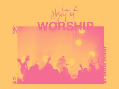 Night of Worship branding music worship crtvchurch